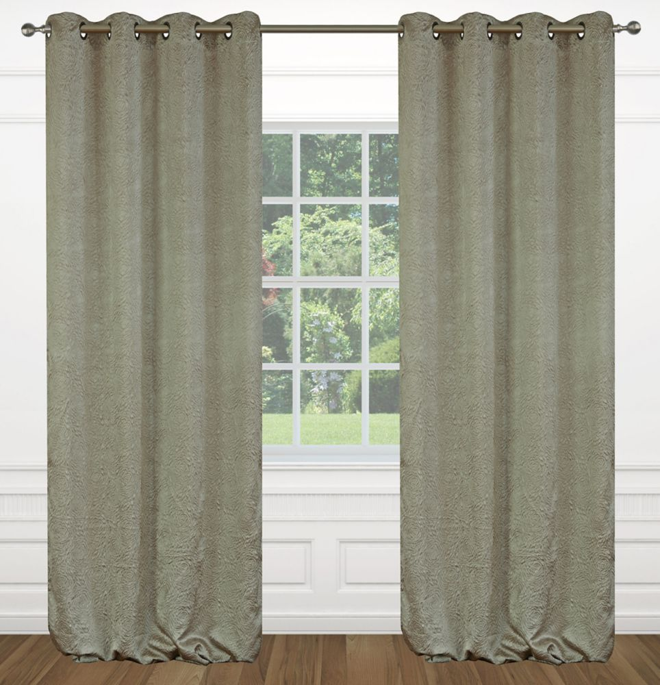 "Raindrops 54""x95"" inch Grommet 2-Pack Curtain Set,  Sand"