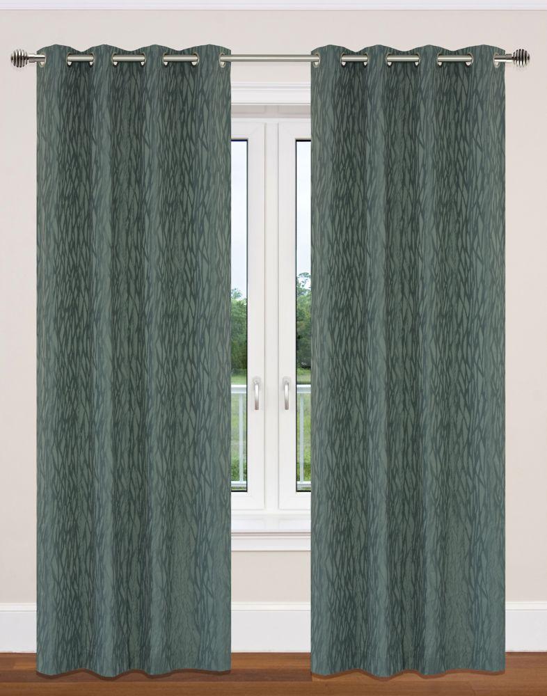 Delta 52x95-inch Grommet 2-Pack Curtain Set, Grey