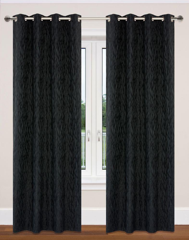 paire de panneaux à �illets 52x95'' Noir