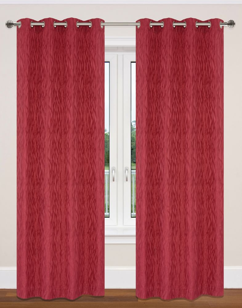 Delta 52x95-inch Grommet 2-Pack Curtain Set,  red