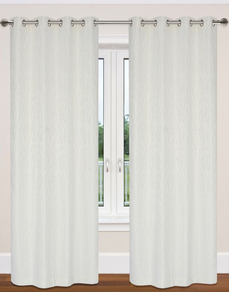 Delta 52x95-inch Grommet 2-Pack Curtain Set,  ivory