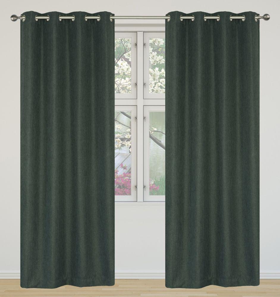 Eclipse Room Darkening 52x95-inch Grommet 2-Pack Curtain Set, Darl Grey