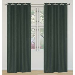 LJ Home Fashions Eclipse Room Darkening Privacy Grommet Panel Set 52 inch W x 95 inch L, Charcoal Grey