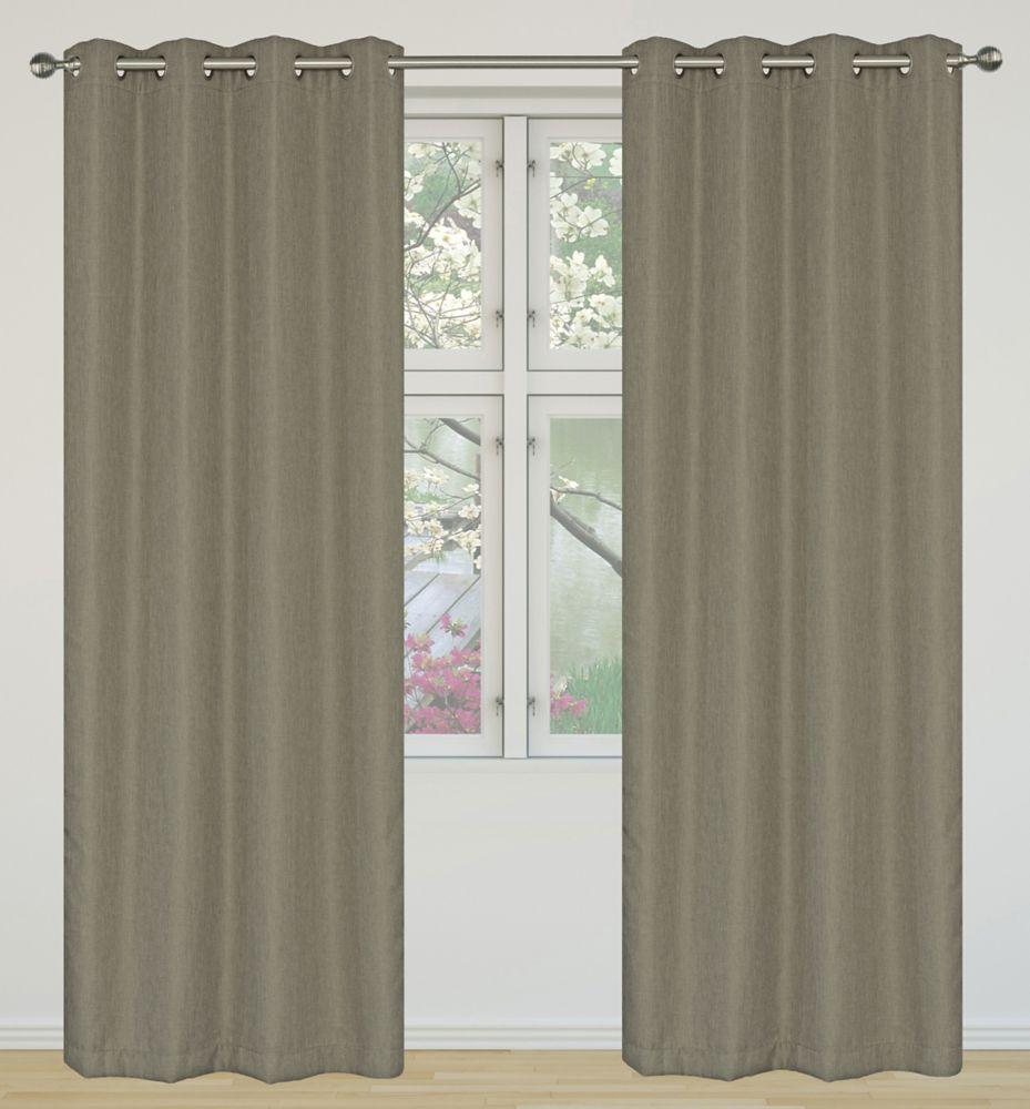 Eclipse Room Darkening 52x95-inch Grommet 2-Pack Curtain Set, Light Brown