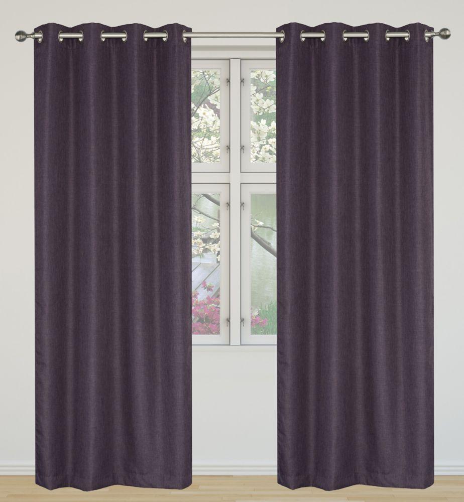Light Reducing, Insulating 2-Piece Eclipse Grommet Curtain Panel Set 52x95, Plum 421 Canada Discount