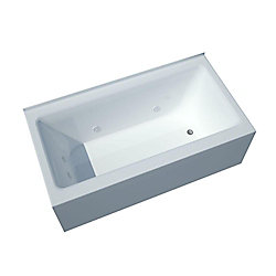 Universal Tubs Amber 5 Feet Front Skirted Whirlpool Bathtub with Right Drain
