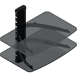 TygerClaw 2-Shelf Wall Mounted Media Stand