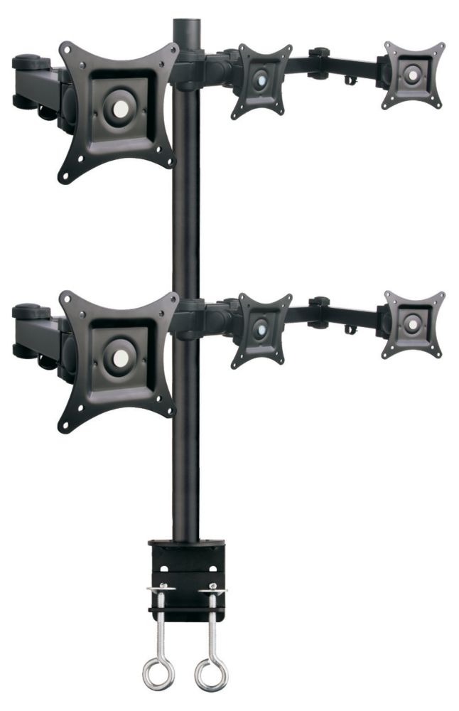 Six Arm Desk Mount for 6 Display
