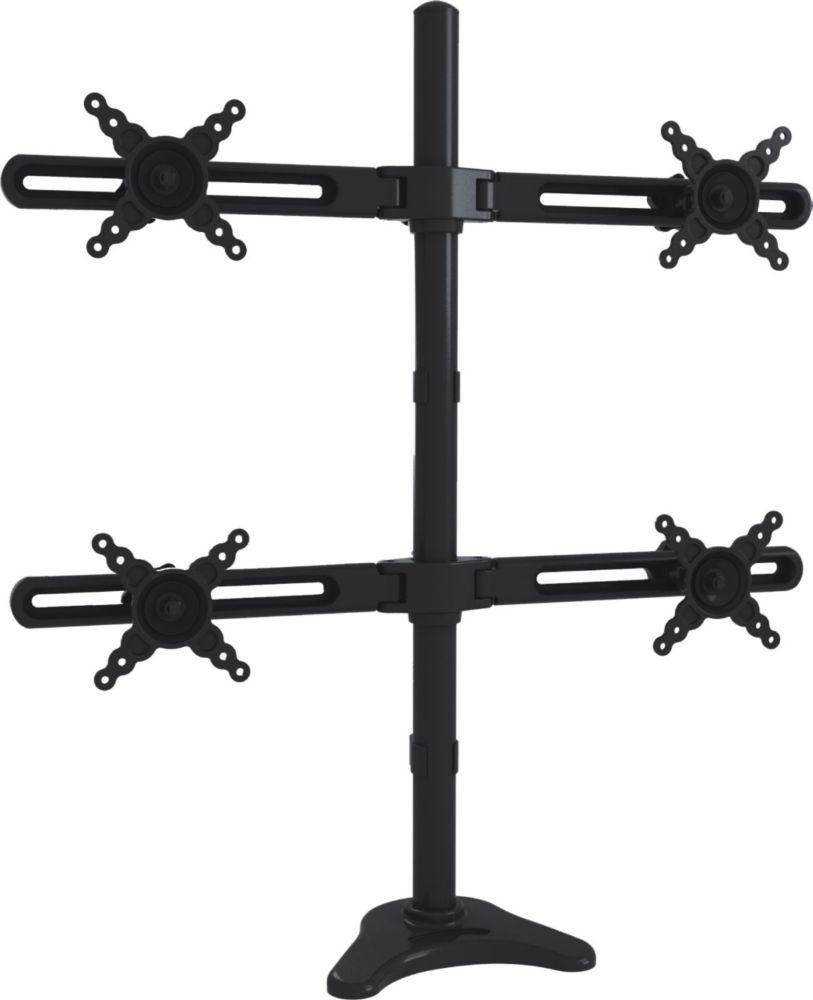 Quad Arm Desk Mount for 10 to 24 Inch Display