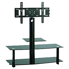 47.2-inch x 50.4-inch x 17.7-inch TV Stand in Black