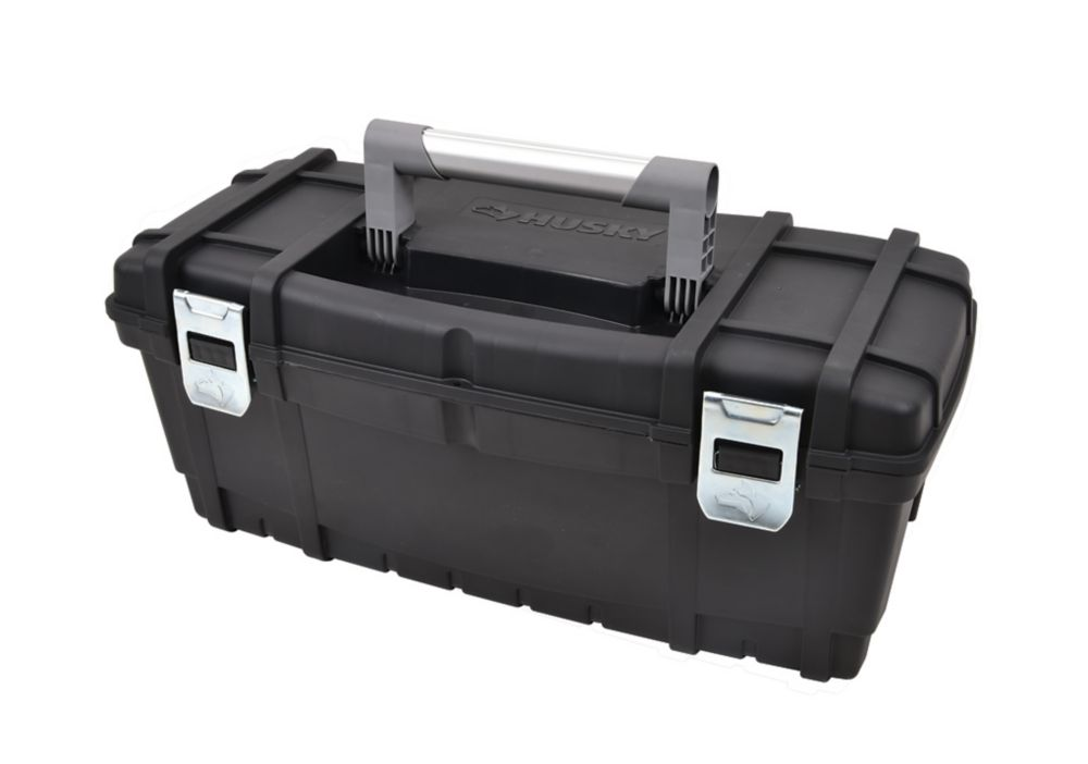 HUSKY 24-inch Latching Toolbox in Black