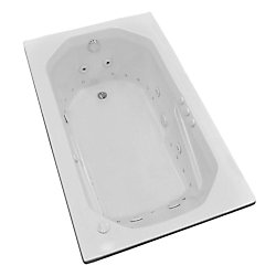 Universal Tubs Onyx 5 ft. Acrylic Drop-in Right Drain Rectangular Whirlpool and Air Bathtub in White