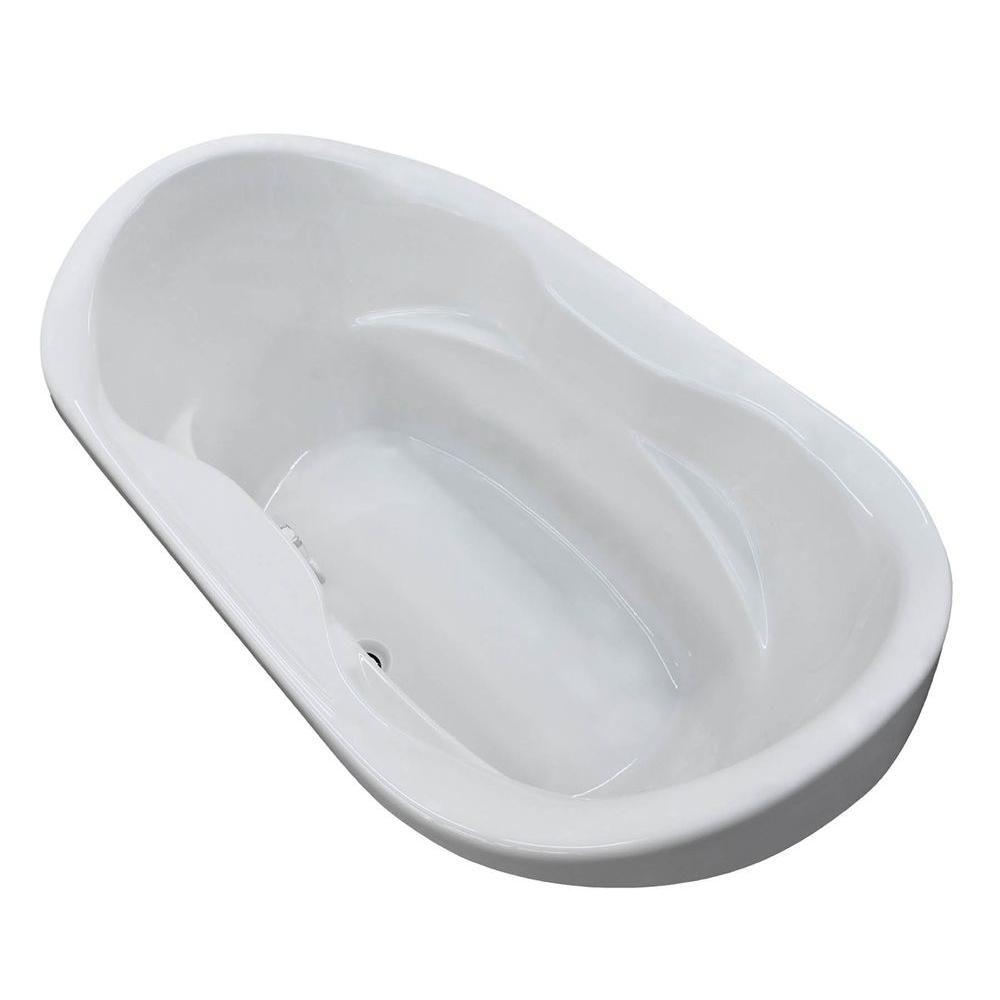 Universal Tubs Ruby 6 Feet Acrylic Oval Drop-in Non Whirlpool Bathtub in White