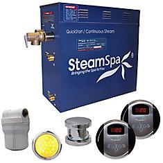 Royal 9kw Steam Generator Package in Brushed Nickel