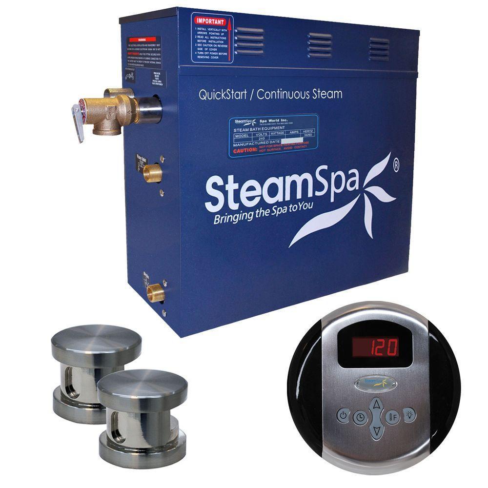 Oasis 10.5kw Steam Generator Package in Brushed Nickel