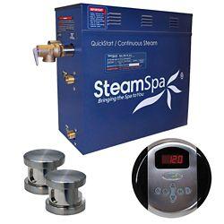 Steamspa Ensemble de générateur de vapeur de 10,5kW Oasis en nickel brossé