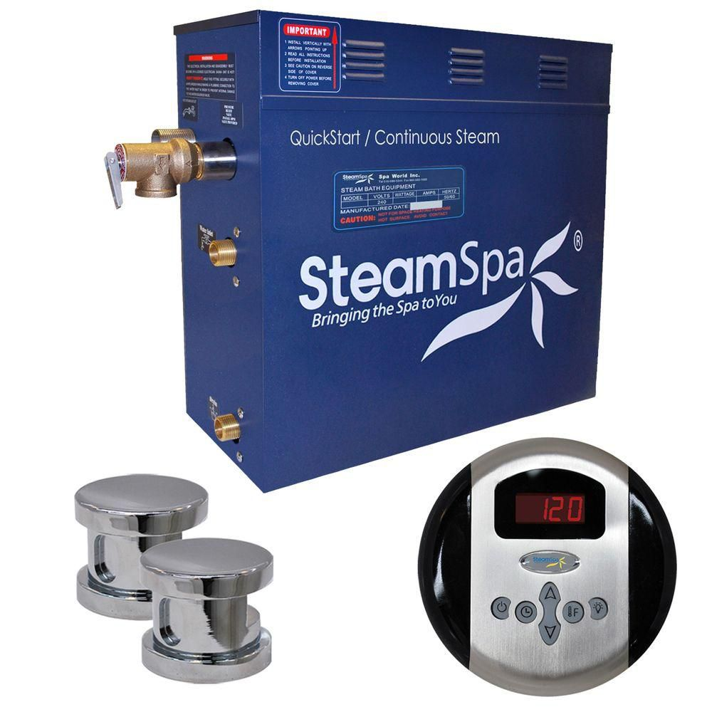 Oasis 10.5kw Steam Generator Package in Chrome
