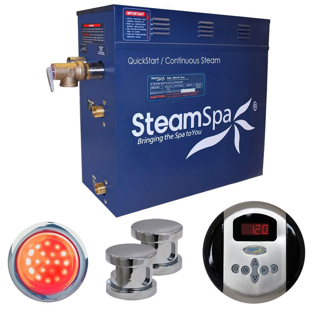 Indulgence 10.5kw Steam Generator Package in Chrome IN1050CH Canada Discount