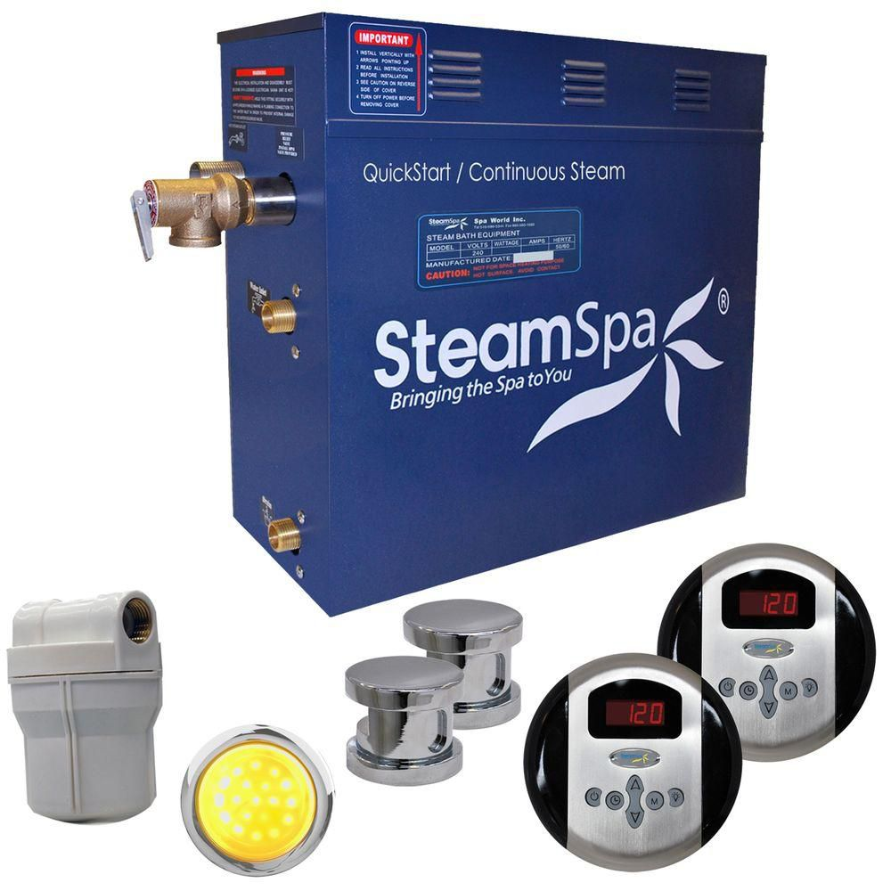 Royal 10.5kw Steam Generator Package in Chrome