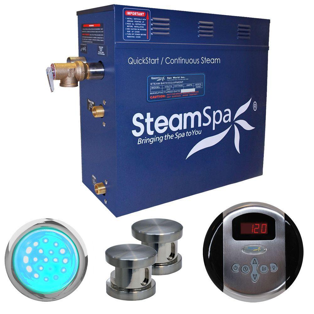 Indulgence 12kw Steam Generator Package in Brushed Nickel