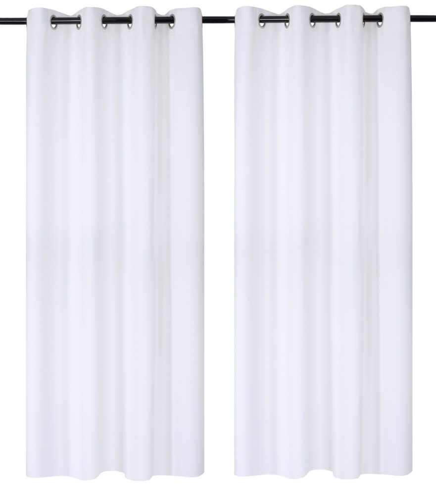 Luxura Room Darkeing, Insulating 56x95-inch Grommet 2-Pack Curtain Set, White