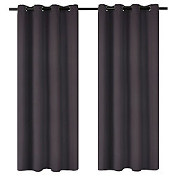 LJ Home Fashions Luxura Light Reducing Insulating Grommet Curtain Panels 56x95-in, Plum (Set of 2)