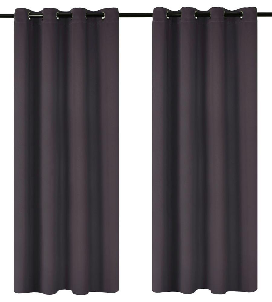 Luxura Room Darkeing, Insulating 56x95-inch Grommet 2-Pack Curtain Set, Plum
