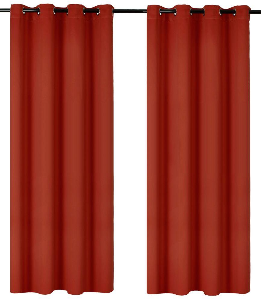Luxura Room Darkeing, Insulating 56x95-inch Grommet 2-Pack Curtain Set, Orange