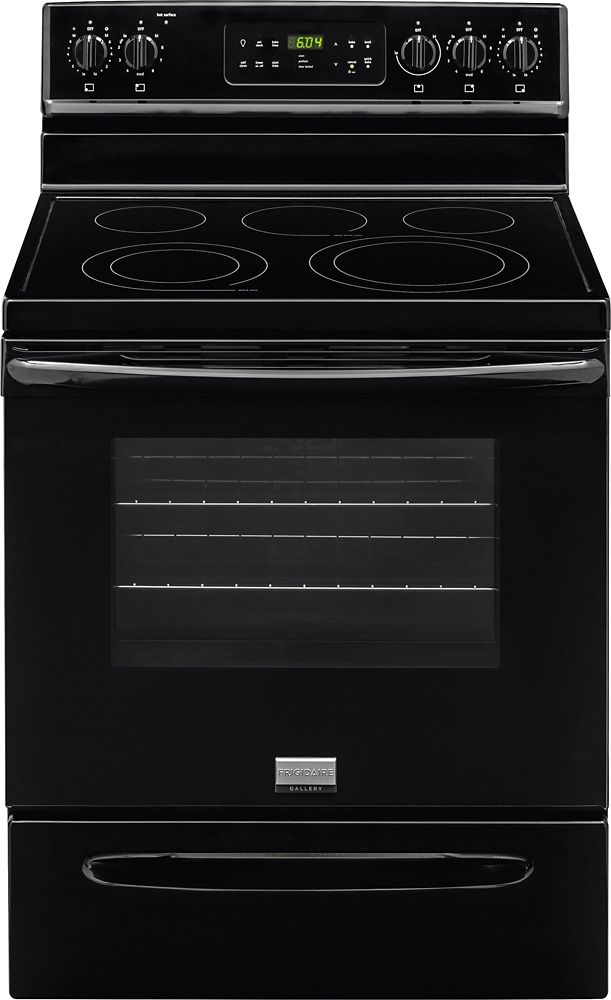 5.7 cu. ft. Free-Standing Electric Range in Black