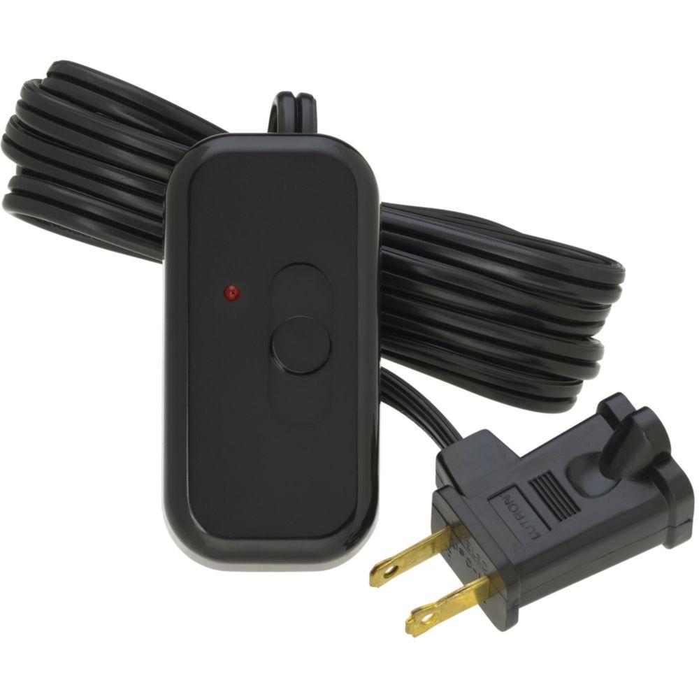 Credenza 300-Watt Plug-In Lamp Dimmer, Black