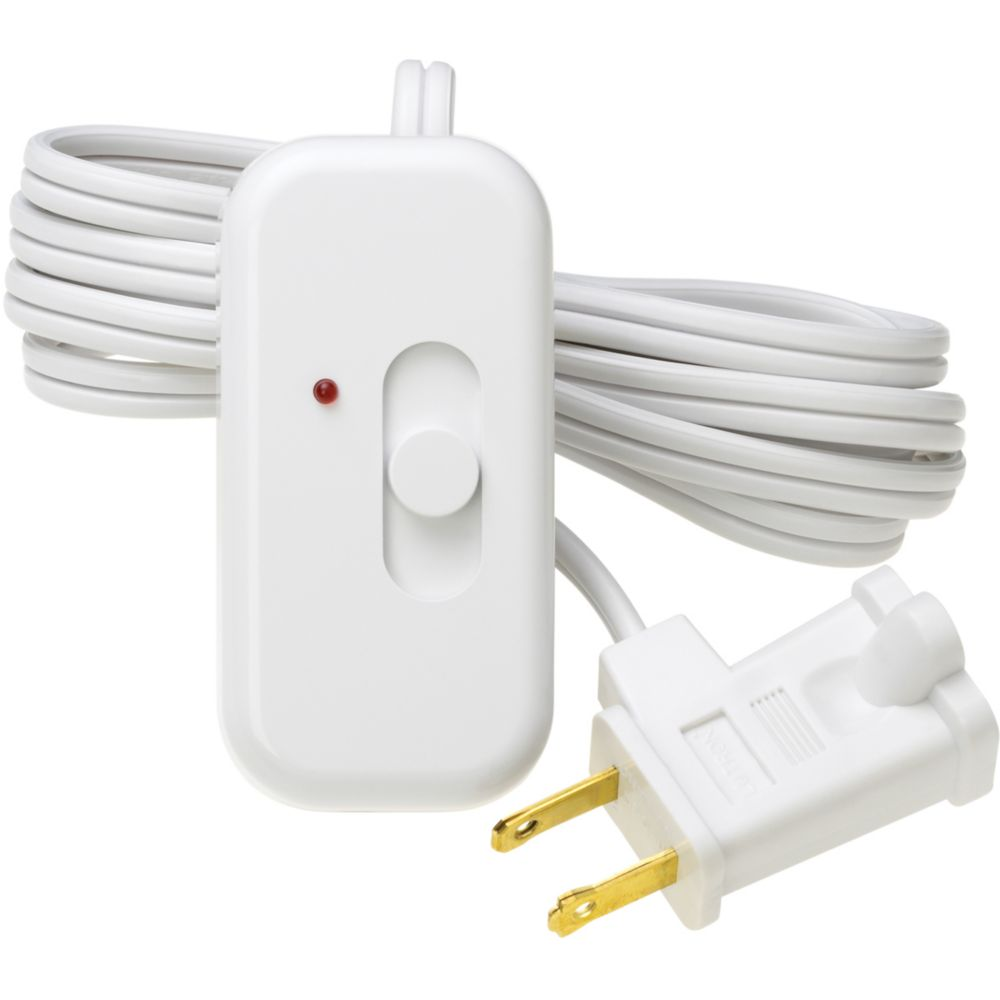 Credenza 300-Watt Plug-In Lamp Dimmer, White