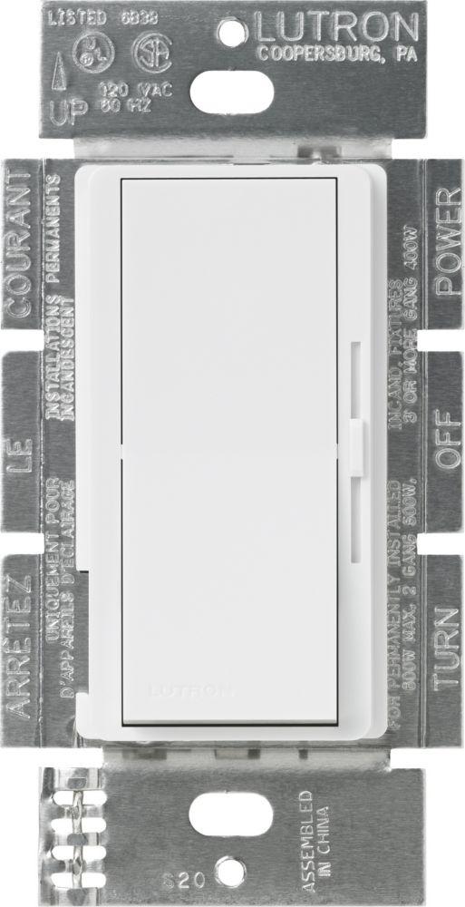 Lutron Diva 1000-Watt Single-Pole Dimmer, White