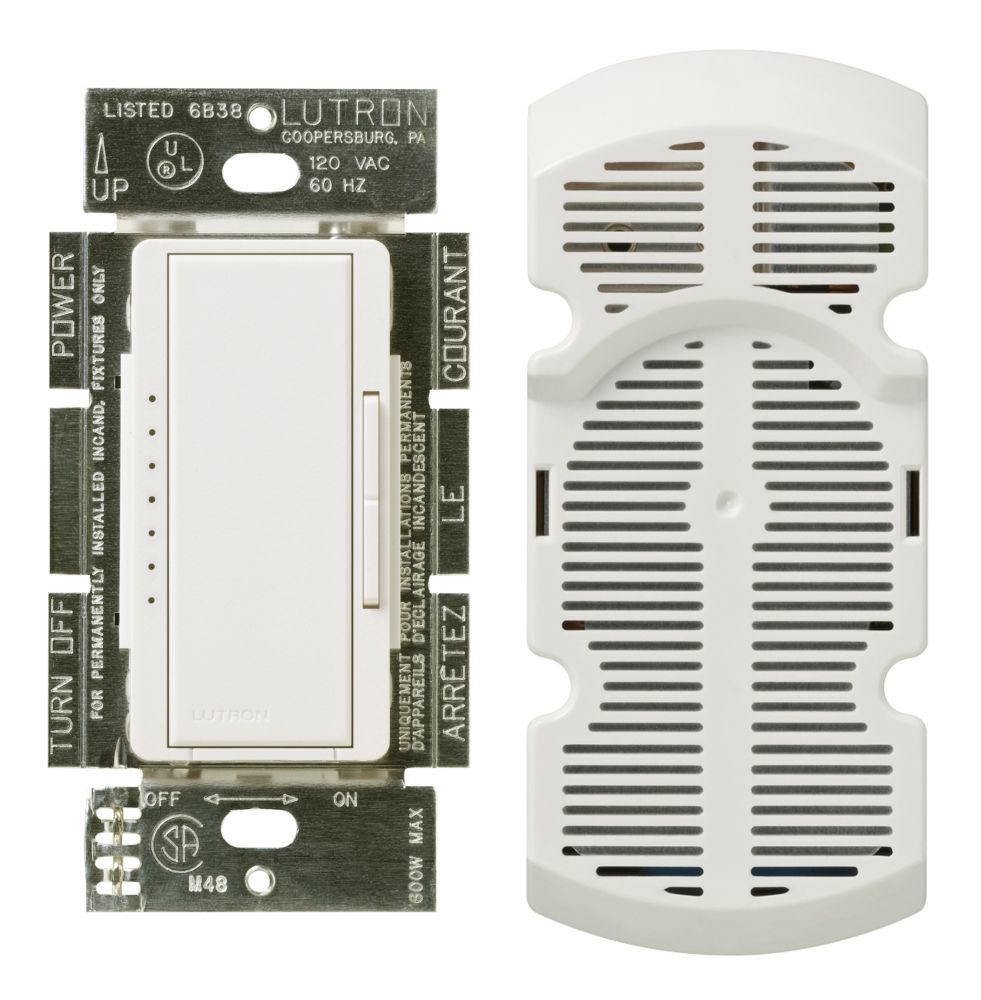 Lutron Maestro 1-Amp Multi-Location 7-Speed Fan Control, White