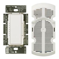 Lutron Contrôle de Ventilateur Maestro de Lutron, 7 Vitesses, Emplacements Multiples 1 Ampère, Blanc