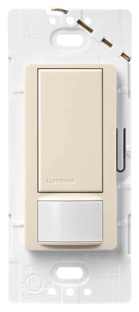 Lutron Maestro 2-Amp Single-Pole Occupancy Sensing Switch, Light Almond MS-OPS2-LA Canada Discount
