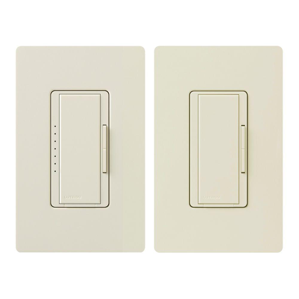 Maestro 150-Watt Multi-Location Digital LED/CFL Dimmer Kit, Light Almond