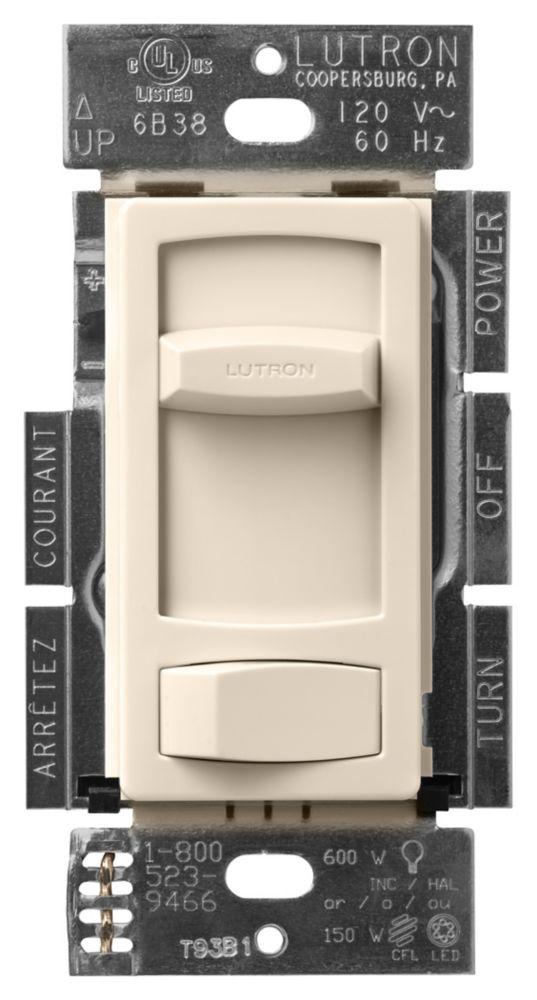 Skylark Contour 150-Watt Single Pole/3-Way LED/CFL Dimmer, Light Almond