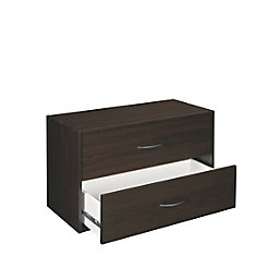 ClosetMaid 24.13-inch x 15.75-inch x 11.63-inch 2-Drawer Dresser in Espresso