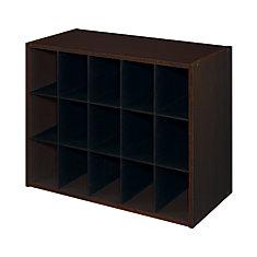 ClosetMaid 24 po. L x 19 po. H Organisateur blanc à 15 cubes en stratifié