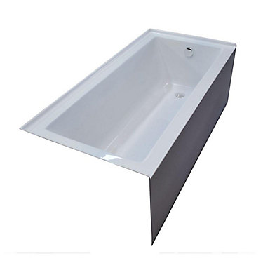 Amber 5 Feet Front Skirted Bathtub in White. Universal Tubs Amber 5 Feet Front Skirted Bathtub in White   The