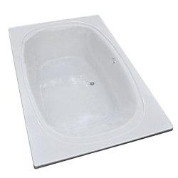 Universal Tubs Peridot 6 Feet 6-Inch Acrylic Oval Drop-in Bathtub in White