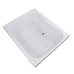 Universal Tubs Rhode 5 Feet Acrylic Rectangular Drop-in Bathtub in White