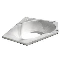 Universal Tubs Quartz 5 Feet Acrylic Corner Drop-in Bathtub in White
