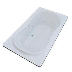Universal Tubs Star 6 ft. Acrylic Drop-In Center Drain Rectangular Whirlpool Bathtub in White