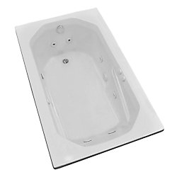 Universal Tubs Onyx 5 ft. Acrylic Drop-in Left Drain Rectangular Whirlpool Bathtub in White