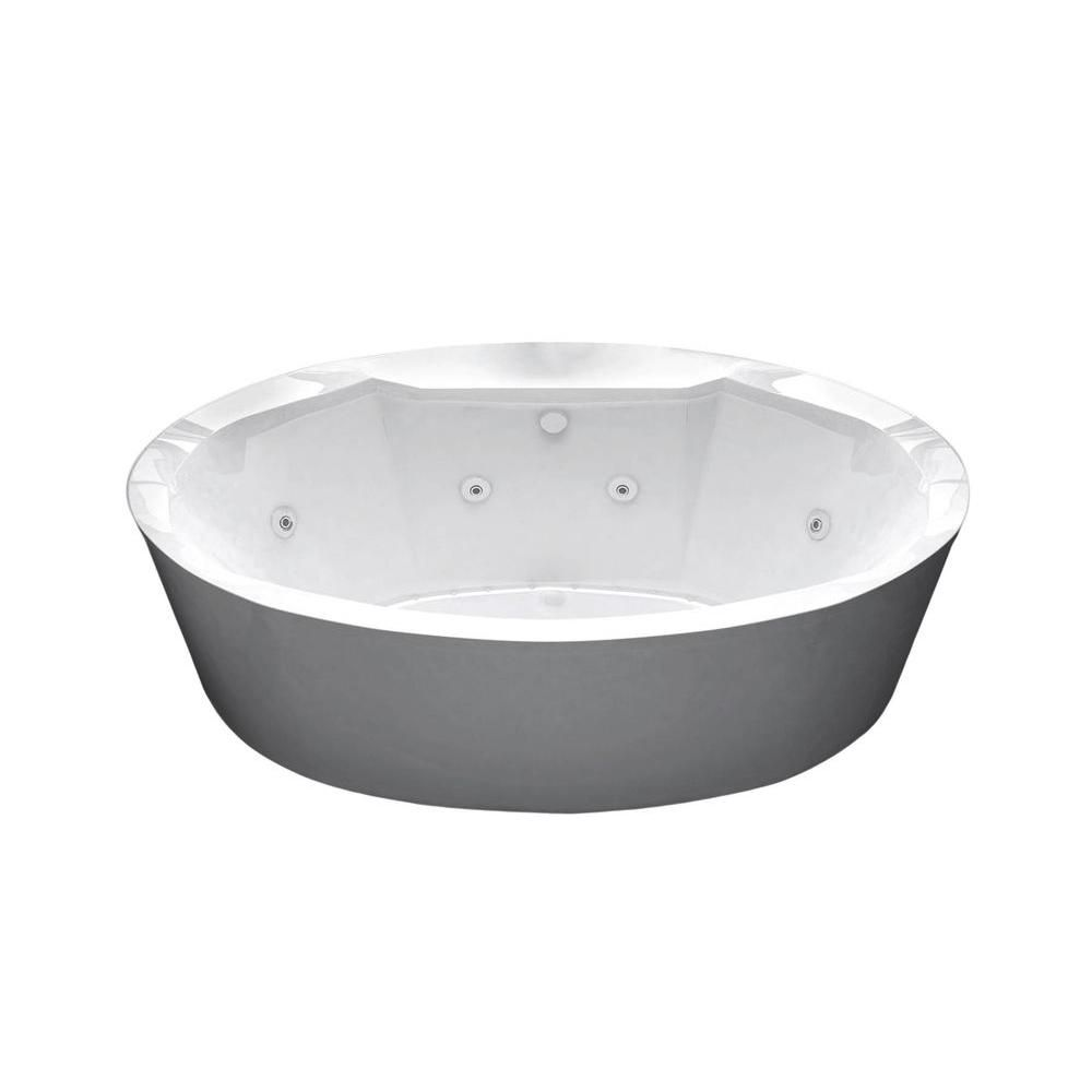Universal Tubs Sunstone 5.7 ft. Acrylic Flatbottom Whirlpool and Air Bath Tub in White