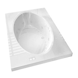 Universal Tubs Imperial Diamond 6 ft. Acrylic Drop-in Left Drain Rectangular Whirlpool and Air Bathtub in White