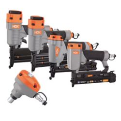 HDX Pneumatic 5-Piece Finish Nail Gun Combo Kit