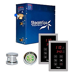 Royal 4.5kw Touch Pad Steam Generator Package in Chrome