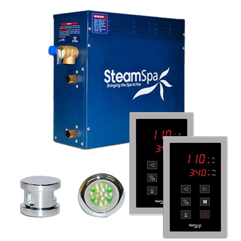 Royal 9kw Touch Pad Steam Generator Package in Chrome